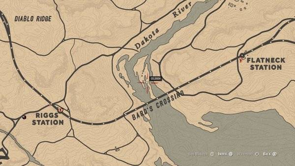 Red Dead Redemption: General - Bard's Crossing: Treasure Map Guide and Treasure Location - Online Mode image 14