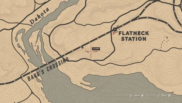 Red Dead Redemption: General - Bard's Crossing: Treasure Map Guide and Treasure Location - Online Mode image 8