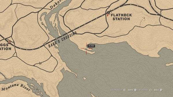Red Dead Redemption: General - Bard's Crossing: Treasure Map Guide and Treasure Location - Online Mode image 11