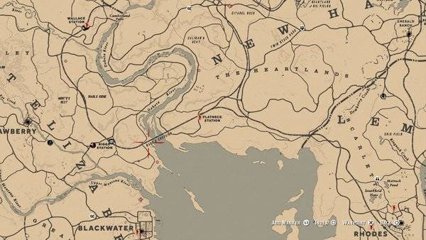 Red Dead Redemption: General - Bard's Crossing: Treasure Map Guide and Treasure Location - Online Mode image 4