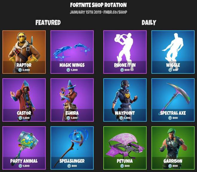Fortnite: Battle Royale - ITEM SHOP 1-14-19 image 1