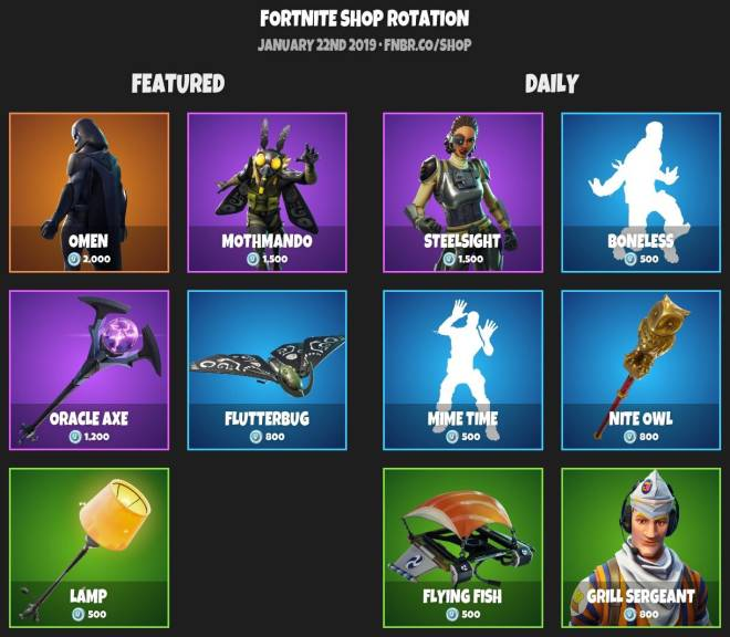 Fortnite: Battle Royale - ITEM SHOP 1-21-19 image 2