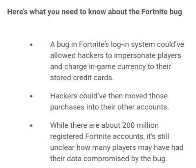 Fortnite: Battle Royale - Fortnite bug exposed player data for hackers to impersonate image 4