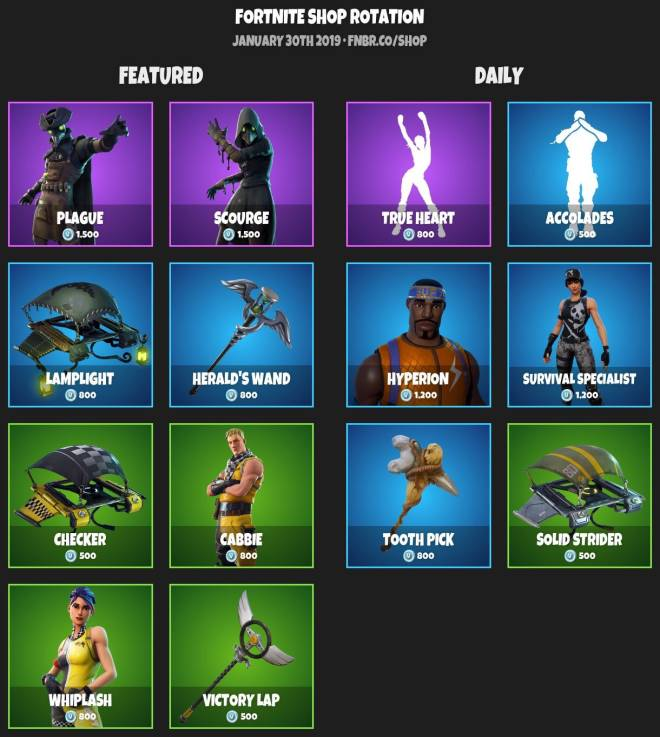Fortnite: Battle Royale - ITEM SHOP 1-29-19 image 2