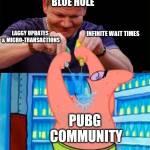 Blue Hole Abusing the Community