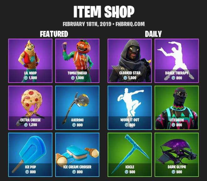 Fortnite: Battle Royale - 🚨ITEMSHOP 2-17-19🚨 image 2