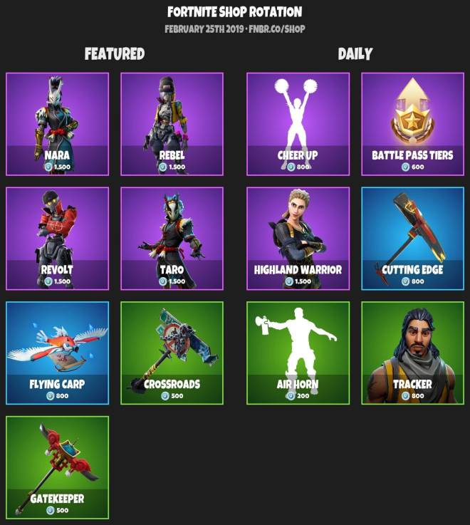 Fortnite: Battle Royale - ITEMSHOP 2-24-19 image 2