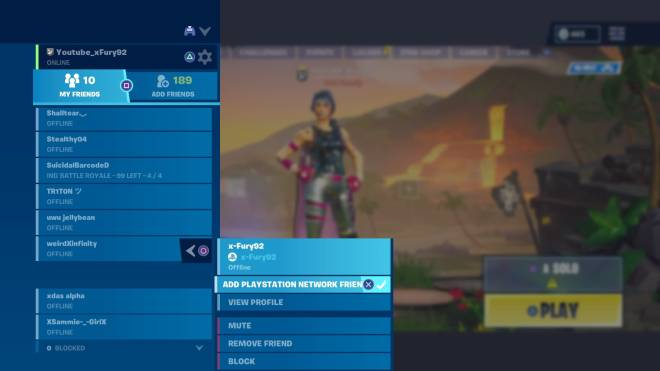Fortnite: Battle Royale - I have my self added as a friend 🤣🤣 image 2