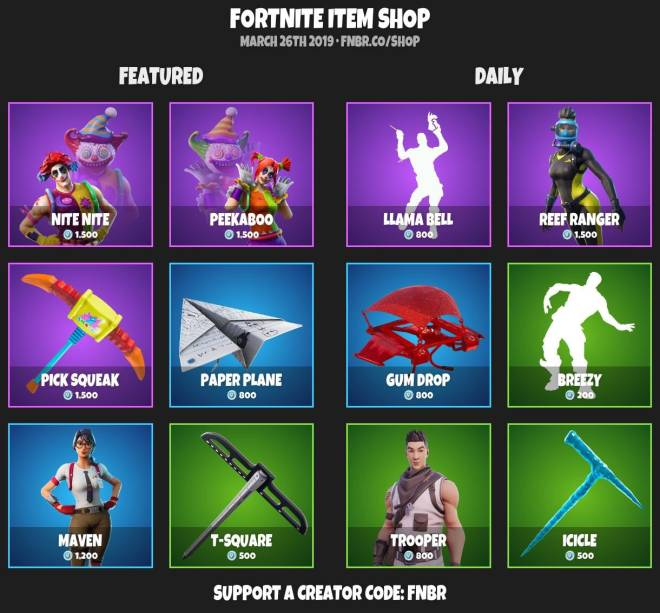 Fortnite: Battle Royale - ITEMSHOP 3-25-19 image 2