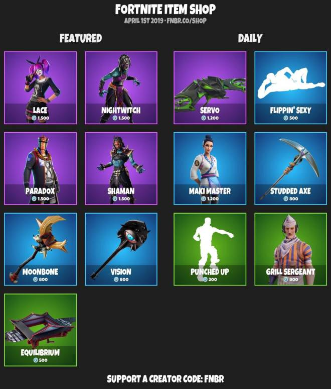 Fortnite: Battle Royale - ITEMSHOP 3-31-19 image 2