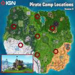 PIRATE CAMPS LOCATIONS
