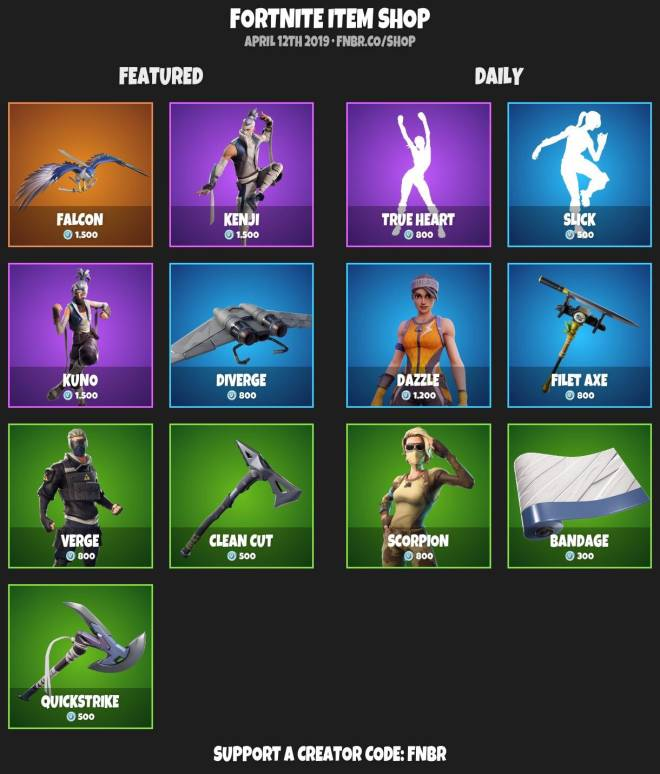 Fortnite: Battle Royale - ITEMSHOP 4-11-19 image 2