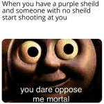 Purple shields