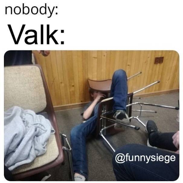 Rainbow Six: Memes - Trying to find valk cams outside like image 1
