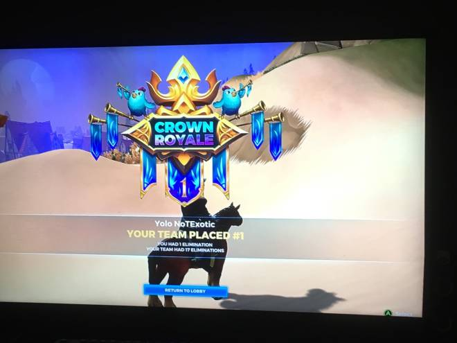 Realm Royale: General - Remember when I was asking 4 help? Well my first game I won and me and my team had 17 elims  image 1