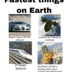 Fastest things on Earth
