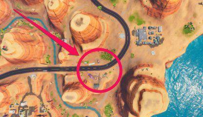 Fortnite: Battle Royale - Drift-Painted Durrr Burger Head, Dinosaur, & Stone Head Statue Location Guide image 13