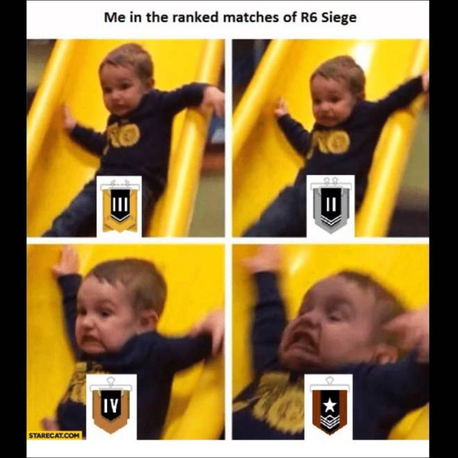 Rainbow Six: Memes - Ranked can be such a pit sometime smh... image 1