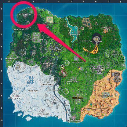 Fortnite: Battle Royale - Spray & Pray Junkyard Crane, Fountains, & Vending Machine Location Guide image 13