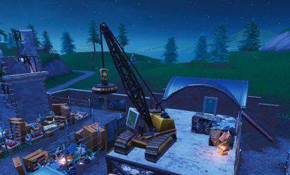 Fortnite: Battle Royale - Spray & Pray Junkyard Crane, Fountains, & Vending Machine Location Guide image 3