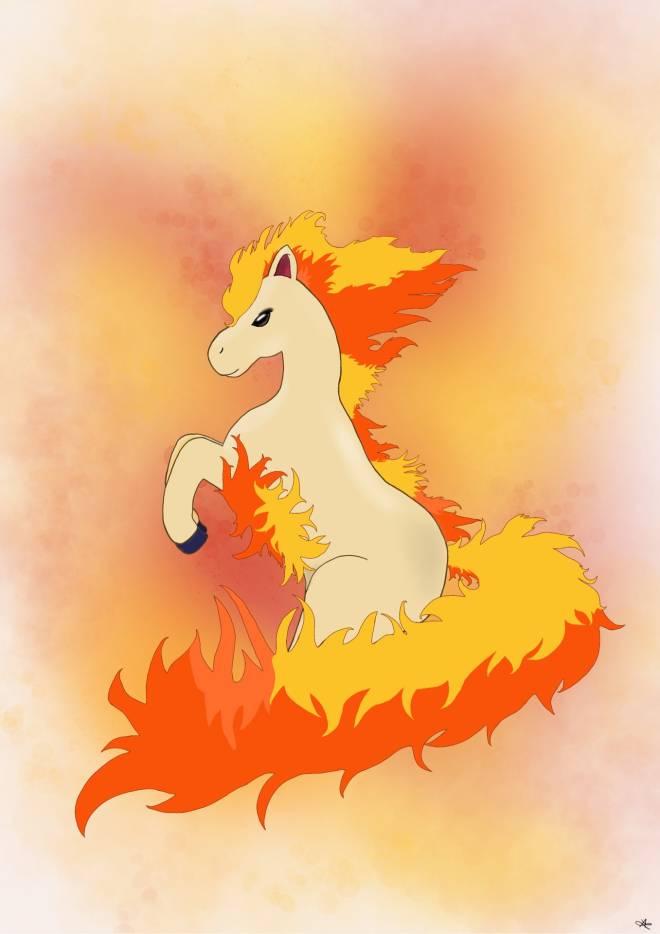 Pokemon: General - ponyta digital art  image 2