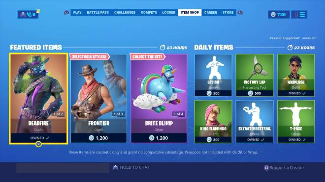 Fortnite: Battle Royale - 09/10/2019 Item Shop  image 1