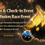 [Event] Summon & Check-in Event and Mission Race Event (9/17 ~ 10/14 CDT)
