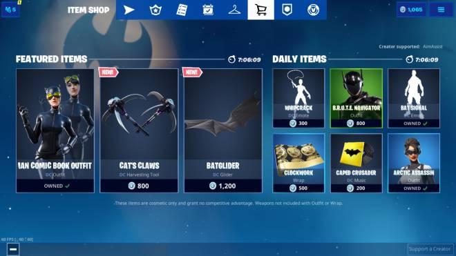 "Fortnite: Battle Royale - Updated ""Item Shop"" (CatWoman) image 1"