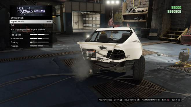 GTA: General - Gta Logic: Fix a completely totaled Sports car for $745 image 1