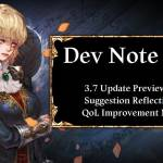 Dev Note #86: 3.7 Update Preview #2 - Suggestion Reflection & QoL Improvement Notice