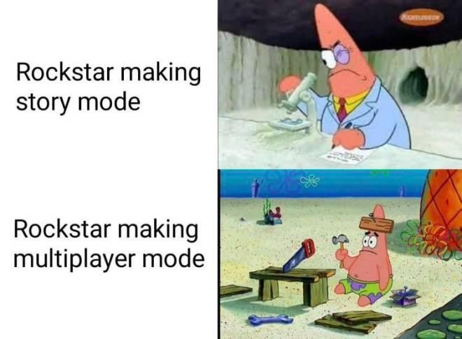 GTA: Memes - Story vs Online image 1
