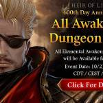 [Event] 600th Day Anniversary Event #1: All Awakening Dungeon Open Event(10/21 ~ 10/27 CDT)