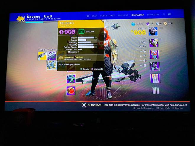 Destiny: General - I need help how come i can use my exotic i bought from xur image 1