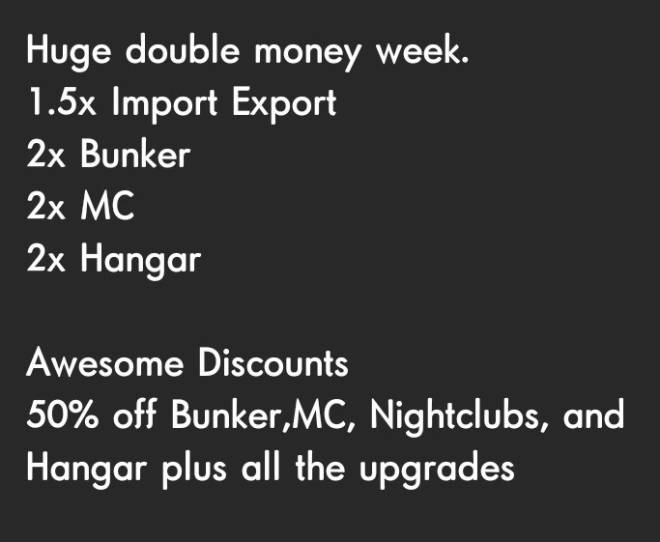 GTA: General - Reminder! Double Money ends soon! Thursday ! image 1