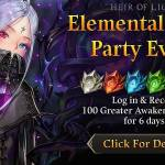 [Event] Elemental Stone Party Log in Event (11/14 ~ 11/19 CST)
