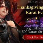 [Event] Thanksgiving Special Karat Event (11/20 ~ 11/24 CST)