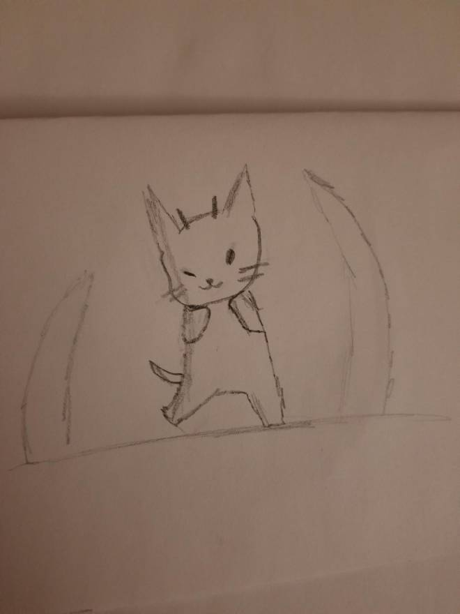 Entertainment: Art - Evil kitty sketch image 1