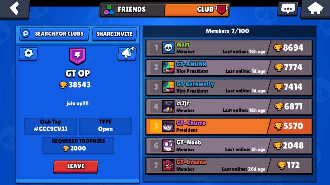 Brawl Stars: Club Recruiting - Join my clan try and change your name but its ok if not. JOIN UP!!! image 1