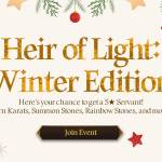 [Event] Heir of Light: Winter Edition Event Notice (12/10 ~ 1/6 CST)