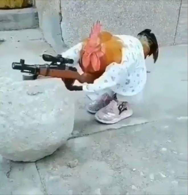 Entertainment: Memes - A chicken holding a sniper rifle  image 1