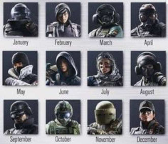 Rainbow Six: Memes - The month you were born is your operator image 1
