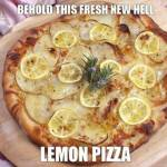 Lemon pizza