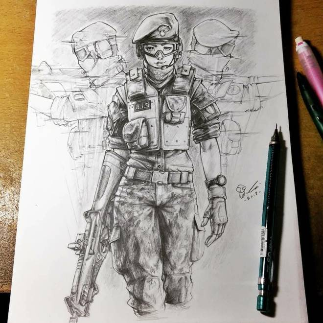 Rainbow Six: Art - Only took about 3 months  image 1