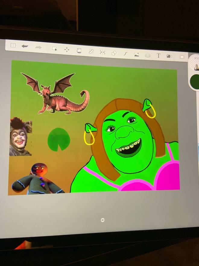 Entertainment: Art - Baby Yoda or Shrek? image 4