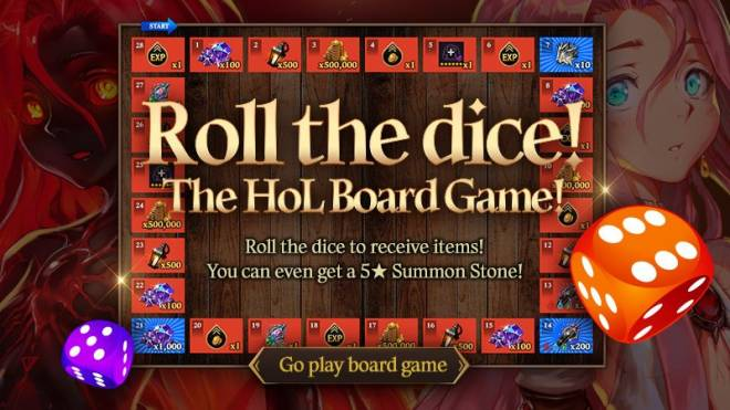 HEIR OF LIGHT: Event - [Event] Roll the dice! the HoL Board Game! Event (1/28 ~ 2/24 CST) image 1