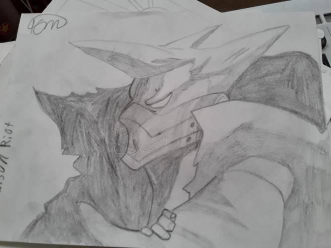 Entertainment: Art - Crimson Riot Sketch image 2