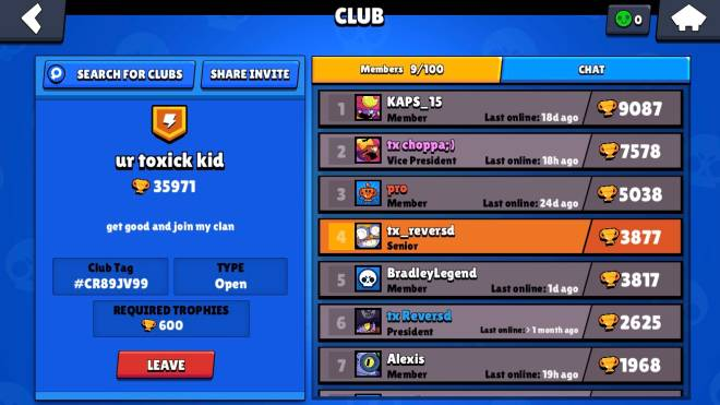 Brawl Stars: General - Join my clan  image 1