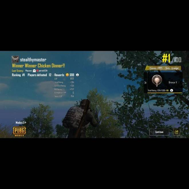 PUBG: General - First mobile win  image 1
