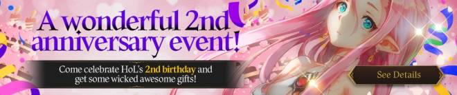 HEIR OF LIGHT: Event - [Event] A Wonderful 2nd Anniversary Event (3/6 ~ 3/25 CST/CDT) image 1