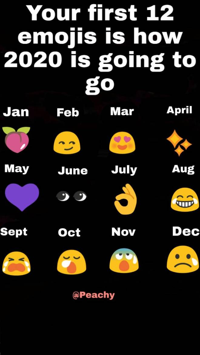 Off Topic: General - Your first 12 emojis is how your 2020 is going to go! image 2